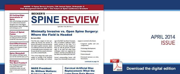 April 2014 Spine- Current Issue