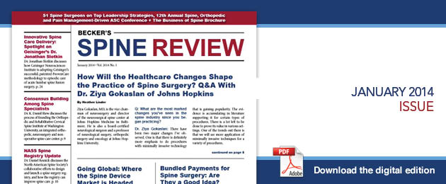 January 2014 Spine Curent Issue