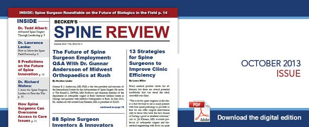 Oct Spine Current Issue