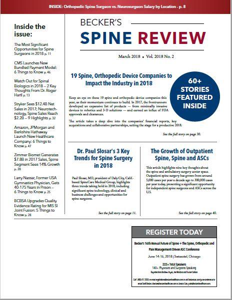 March Spine 2018